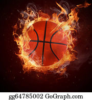 Flaming-Basketball - Hot Basketball In Fires Flame