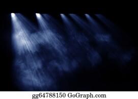 Dance-Of-Lights-In-The-Dark - Black Background, The Spotlight.