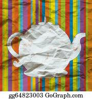 Tea-Pot - Tea Pot Funny Background On The Paper Texture