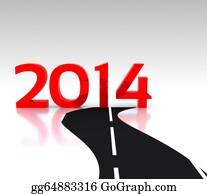 Calendar-For-January-2014 - New Year 2014 - 3d