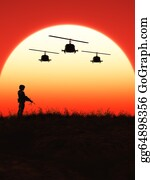 Helicopter - Soldier In The Sunset