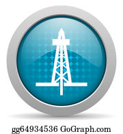 Drilling-Rig - Drilling Blue Circle Web Glossy Icon