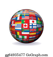 Globe-Flags - Flags Globe. Sphere With Flags Of The World