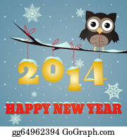 Begging - Owl Happy New Year 2014