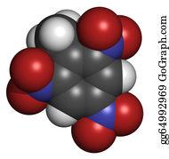Tnt - Trinitrotoluene (tnt) Explosive Molecule, Chemical Structure