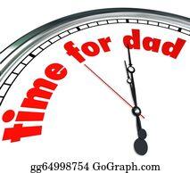 Appreciation - Time For Dad Clock Fatherhood Father's Day Appreciation