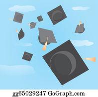 Graduation - Graduation Caps Tossed Up