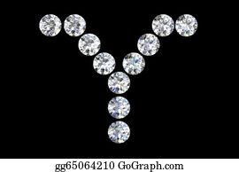 Diamond-Alphabet-Vector-Illustration - Diamond Letters
