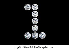 Diamond-Alphabet-Vector-Illustration - Diamond Number One