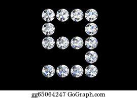 Diamond-Alphabet-Vector-Illustration - Diamond Number Nine