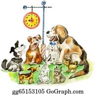 Barking-Dog - Group Of Barking Funny Dogs