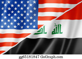 Government-And-Economy - Usa And Iraq Flag