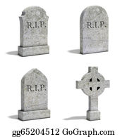 Headstone - Gravestone Set