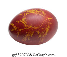 Orthodox - Egg With A Leaf Pattern On Orthodox Easter
