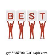 Best-Friends - Men Holding The Word Best. Concept 3d Illustration.