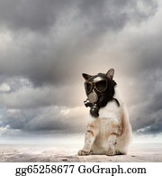 Recycle-Technology - Cat In Gas Mask