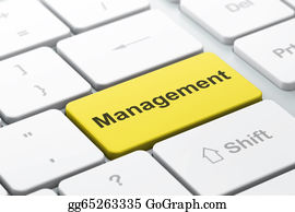 Management - Business Concept: Management On Computer Keyboard Background