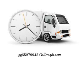 Time-For-Shopping - White Truck-Fast Shipping