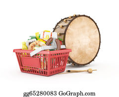 Basket - Shopping Basket With Drum