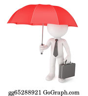 Umbrella - Businessman With Umbrella. Safety Concept