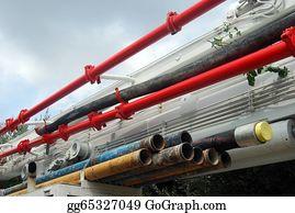 Concrete-Pump-Truck - Tubes To A Pump Truck