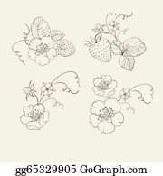 Bush-Of-Wild-Flowers - Strawberry Elements