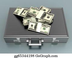 Hard-Cash - Briefcase With Cash