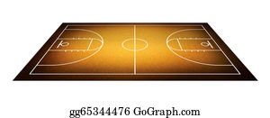 Basketball-Hoop - Illustration Of Basketball Court.