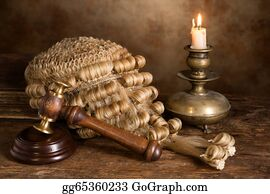 Wig - Still Life With Judge's Wig