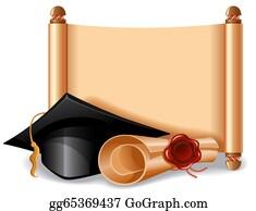 Graduation - Graduation Cap And Diploma