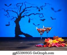 Martini-Glass - Halloween Landscape With Sweets