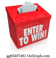 Lottery-Winner - Enter To Win Red Raffle Lottery Box Entry Forms Tickets