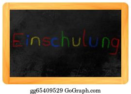 First-Day-Of-School - Einschulung Colored Chalk