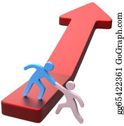 Outreaching - Help Hand Friend Progress Arrow