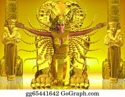 Priest - A Golden Egyptian Temple