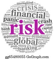 Economy - Risk In Economy And Finance Concept On White
