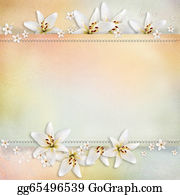Congratulations - Wedding  Background With Flowers For Congratulations And Invitations