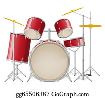 Drum-Set - Drum Set Illustration