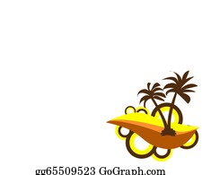 A-Palm-Tree-Sign-In-Yellow-And-Black - Palm Tree Background With Empty Place For Your Text