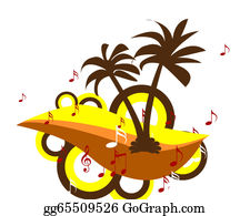 A-Palm-Tree-Sign-In-Yellow-And-Black - Palm Tree Musical Background