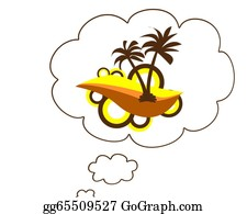 A-Palm-Tree-Sign-In-Yellow-And-Black - Thinking About The Summer
