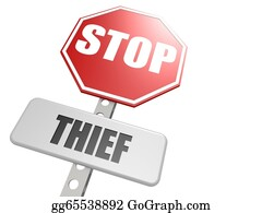 Neighborhood-Watch - Stop Thief Road Sign