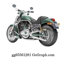 Motorcycle - Classic Motorcycle Isolated