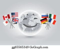 Globe-Flags - Smiling World Globe