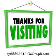 Appreciation - Thanks For Visiting Hanging Store Sign Customer Appreciation