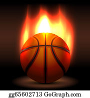 Flaming-Basketball - Flaming Basket Ball Waiting For A Game