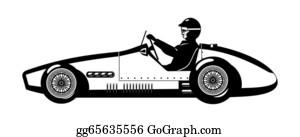 Formula-1-Racing-Car - Old Sports Car