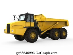 Hydraulic - Dump Truck Isolated