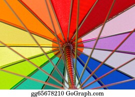 Umbrella - Rainbow Colored Umbrella