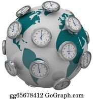Forward - International Time Zones Clocks Around World Global Travel